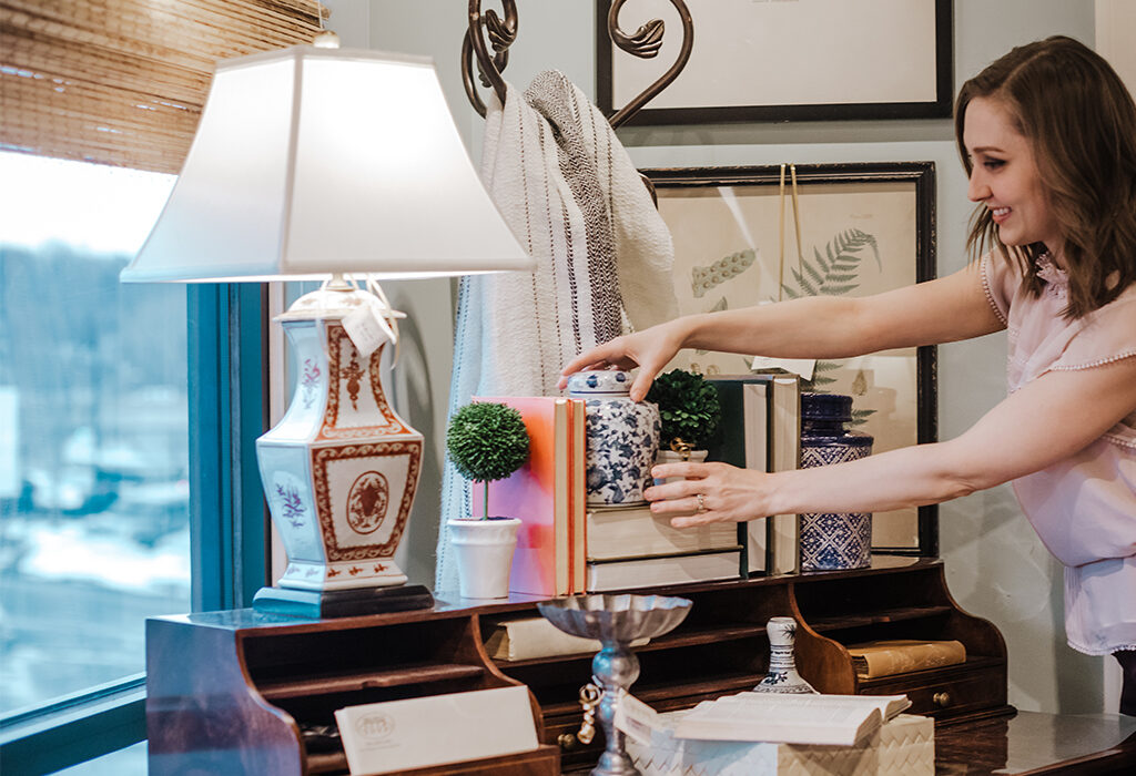 Large lamps are a great addition to any vignette that needs height and light to stand out in the room.